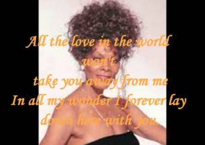 DIONNE WARWICK - ALL THE LOVE IN THE WORLD  ( LYRICS ) VINYL 1982