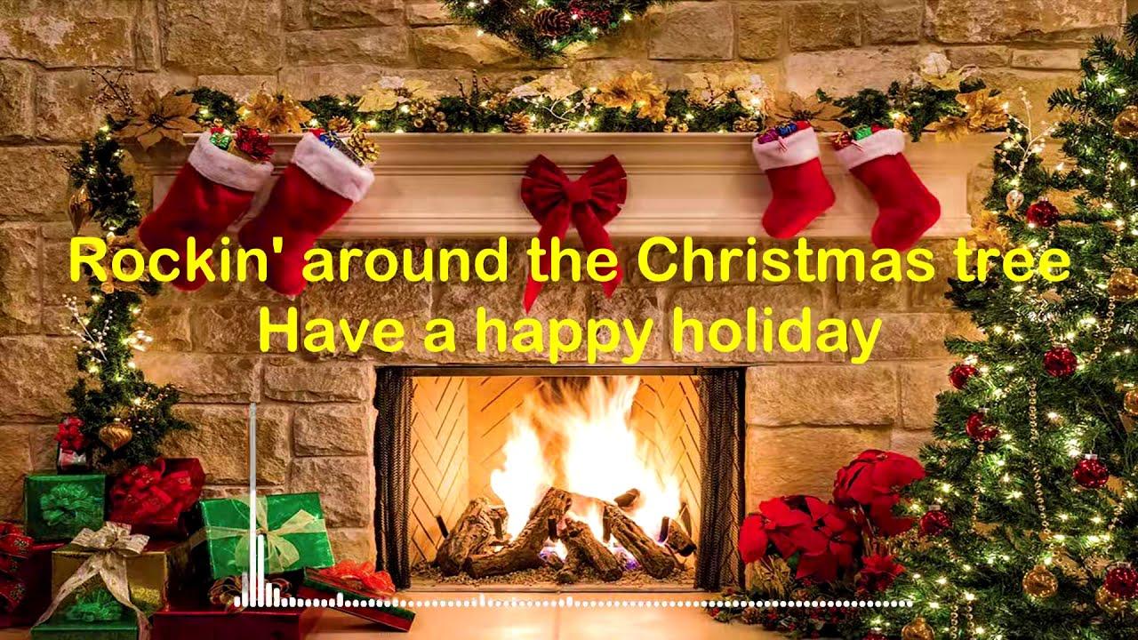 Justin Bieber - Rockin' around the Christmas tree (Lyrics Video)